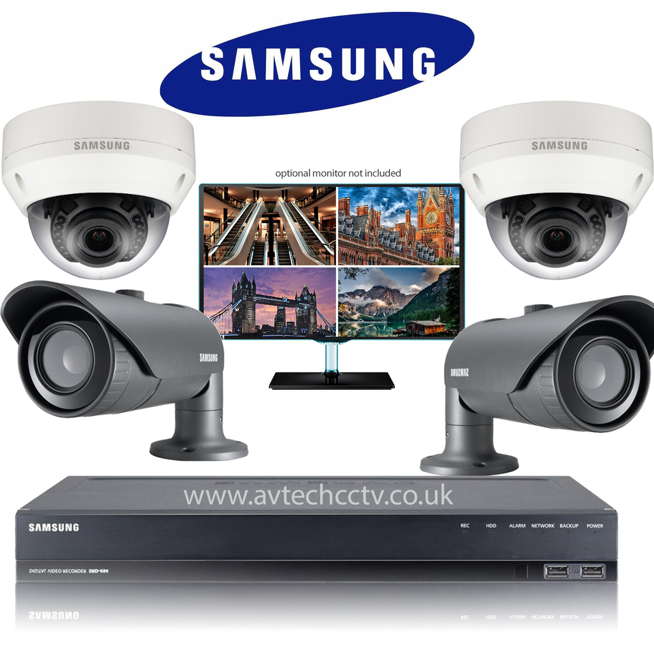 4 Samsung Camera BULLET AND DOME CCTV Wisenet HD Security Vari lens