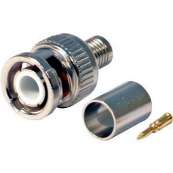 BNC RG59 connector 3 piece BAG of 10