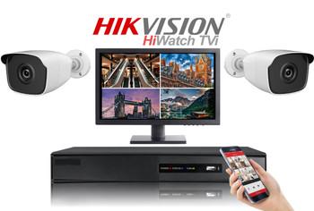 Hikvision Hiwatch HD 1080P 2 Camera Bullet CCTV System