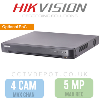 Hikvision HD TVI 4 channel Digital Video Recorder upto 5MP Recording