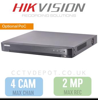 Hikvision HD TVI 4 channel Digital Video Recorder upto 2MP Recording
