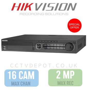 Hikvision HD TVI 16 channel Digital Video Recorder upto 2MP Recording COMMERCIAL UNIT