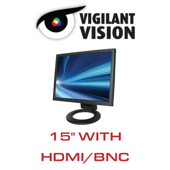 """15"""" CCTV Monitor LED With HDMI/VGA/BNC"""