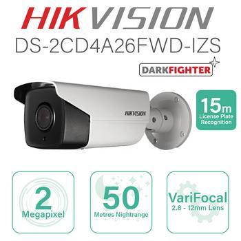 Hikvision IP ANPR Bullet 15m DS-2CD4A26FWD-IZS(2.8-12mm)
