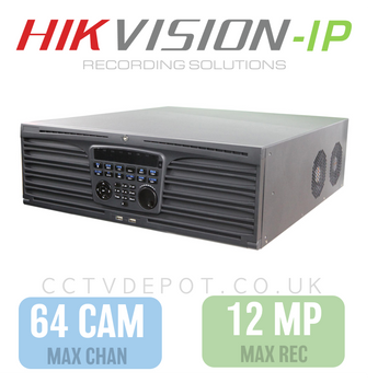 Hikvision PRO 64 Channel NVR with 12MP Compatibility, 16 RAID HDD  + PRO 320Mbs Bandwidth