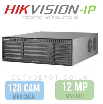 Hikvision PRO 128 Channel NVR with 12MP Compatibility, 16 RAID HDD  + PRO 768Mbs Bandwidth
