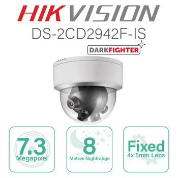 Hikvision Fisheye PanoVu IP with 4x5mm Fixed Lens cams DS-2CD6986F