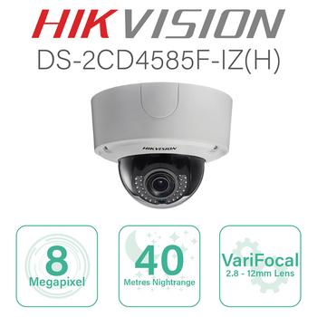 Hikvision 4K IP Dome with 2.8mm-12mm lens DS-2CD4585F-IZ