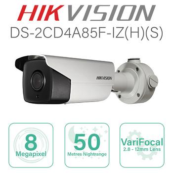 Hikvision 4K IP Bullet with 2.8mm-12mm lens DS-2CD4A85F-IZS