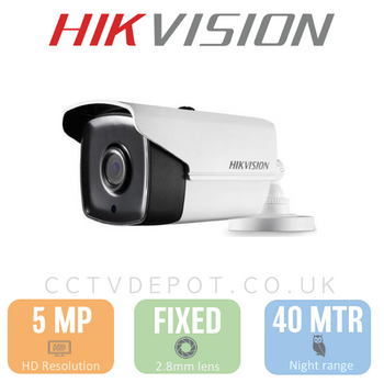 Hikvision HD TVI 5MP Bullet Fixed Lens 3.6mm with 40M Night PoC