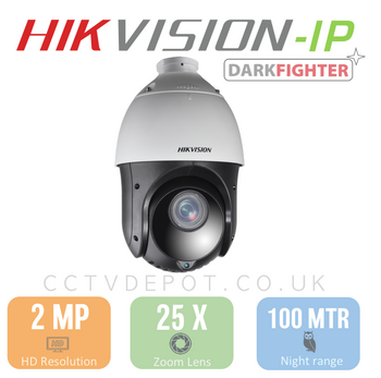 Hikvision PRO PTZ IP Series with POE+, 25X Zoom and 100metre IR