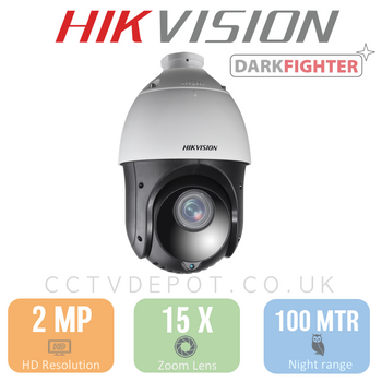 Hikvision PRO PTZ HD TVi Series with 15X Zoom and 100metre IR