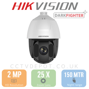 Hikvision PRO PTZ HD TVi Series with 25X Zoom and 150metre IR
