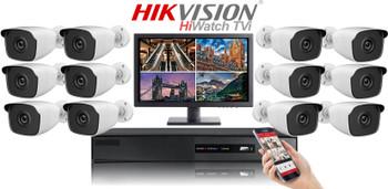 Hikvision Hiwatch HD 1080P 12 Camera Bullet CCTV System