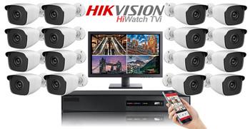 Hikvision Hiwatch HD 1080P 16 Camera Bullet CCTV System