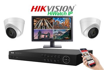 Hikvision Hiwatch 4MegaPixel PRO IP 2 Camera Dome CCTV System