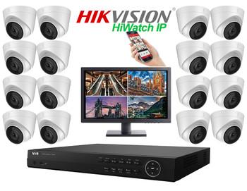 Hikvision Hiwatch 4MegaPixel PRO IP 16 Camera Dome CCTV System
