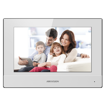 """HIKVISION DS-KH6320-WTE1-W Hikvision video intercom indoor station with 7"""" touch screen"""