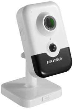 HIKVISION DS-2CD2443G0-IW(2.8MM)(W) 4MP fixed lens cube camera with IR, Wi-Fi & built in microphone/speakers