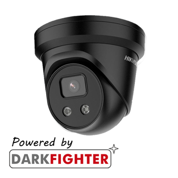 HIKVISION DS-2CD2346G2-IU(2.8MM)/BLACK Hikvision AcuSense 4MP fixed lens Darkfighter turret camera with IR and built-in mic