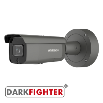 HIKVISION DS-2CD2646G2-IZS/GREY AcuSense 4MP motorized varifocal lens Darkfighter bullet camera with IR