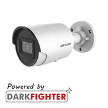 HIKVISION DS-2CD2086G2-IU(4mm) AcuSense 8MP fixed lens Darkfighter bullet camera with IR & built in mic
