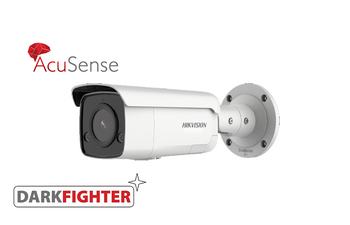 HIKVISION DS-2CD2T46G2-ISU/SL(2.8MM) 4MP AcuSense bullet with built-in mic, speaker and alarm