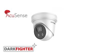 HIKVISION DS-2CD2386G2-IU(2.8MM) AcuSense 8MP fixed lens DarkFighter turret camera with IR & built in mic