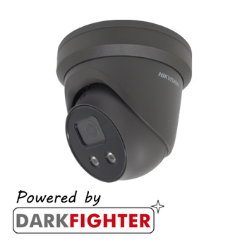 HIKVISION DS-2CD2386G2-IU(2.8MM) Grey AcuSense 8MP fixed lens DarkFighter turret camera with IR & built in mic