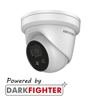 HIKVISION DS-2CD2386G2-ISU/SL(2.8MM) AcuSense 8MP fixed lens Darkfighter turret camera with IR, built-in speaker and alarm