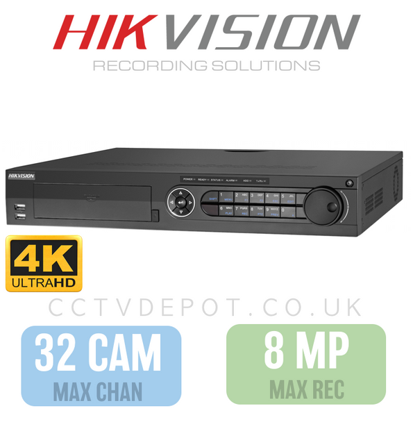 Hikvision HD TVI 32 channel Digital Video Recorder upto 8MP Recording