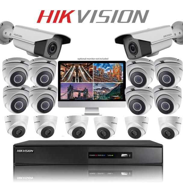 16 Hikvision PRO GRADE CCTV Bullet camera kit with TurboHD DVR