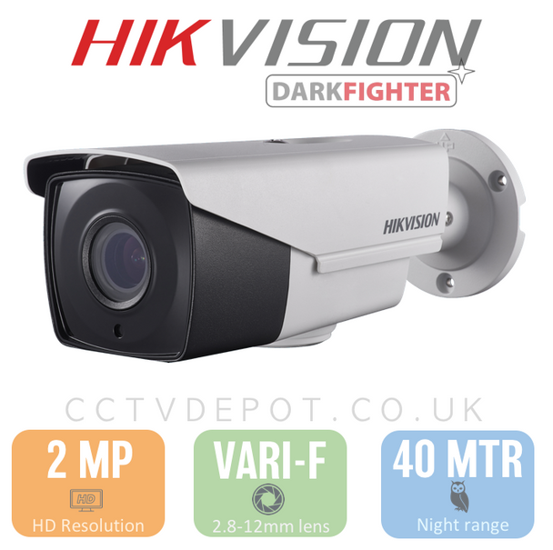 Hikvision PRO Bullet with motorised Autozoom and Darkfighter Technology & PoC