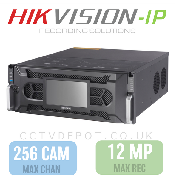 Hikvision PRO 256 Channel NVR with 12MP Compatibility, 24 RAID HDD  + PRO 768Mbs Bandwidth
