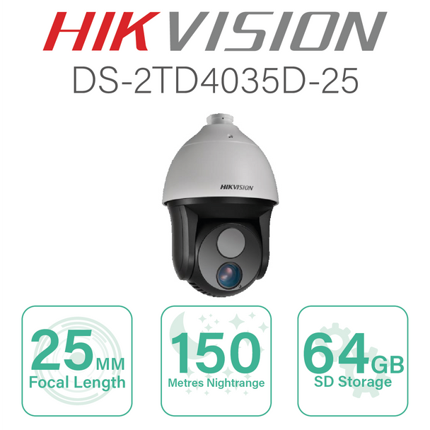 Hikvision Thermal PTZ with 25mm Focal  DS-2TD4035D-25