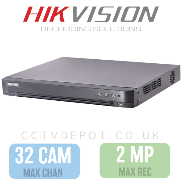 Hikvision HD TVI 32 channel Digital Video Recorder upto 2MP Recording