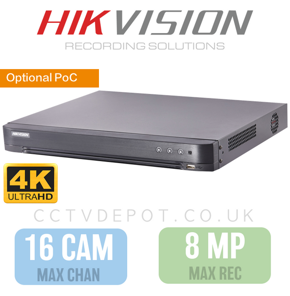 Hikvision HD TVI 16 channel Digital Video Recorder upto 4K HD 8MP Recording