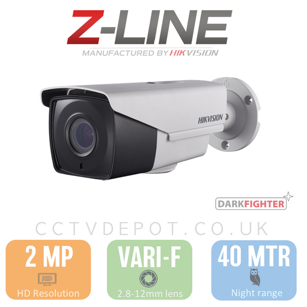 Hikvision PRO Bullet with motorised Autozoom and Darkfighter Technology