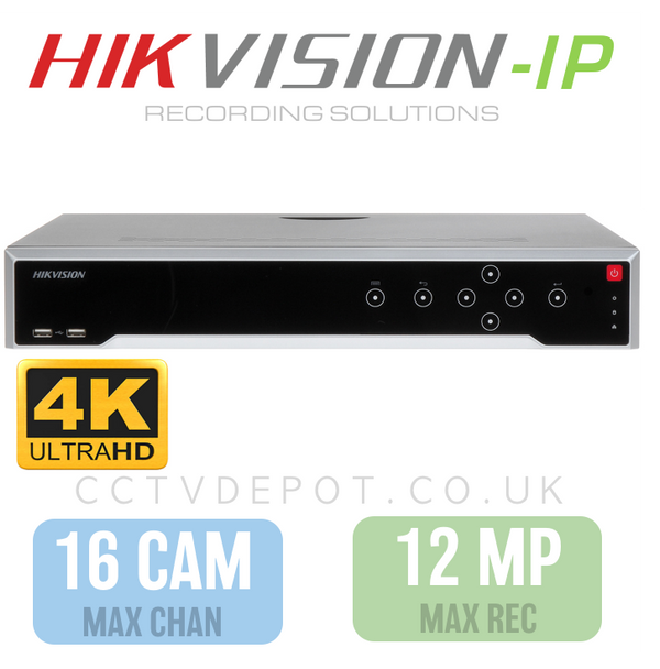 Hikvision PRO 16 Channel NVR with upto 4KHD -12MP- Compatibility (NON-POE)