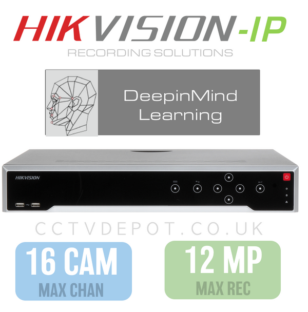 Hikvision DeepInMind 16 Channel NVR with upto 12MP Resolution & DeepLearning Analytics