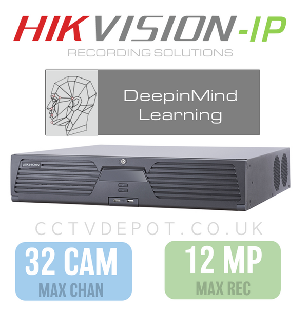 Hikvision DeepInMind 32 Channel NVR with upto 12MP Resolution & DeepLearning Analytics