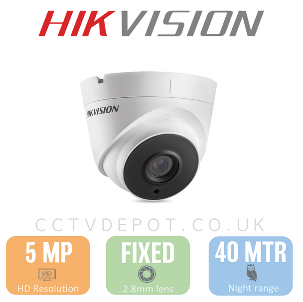 JM Hikvision HD TVI 5MP Turret Fixed Lens 2.8mm with 40M Night and PoC