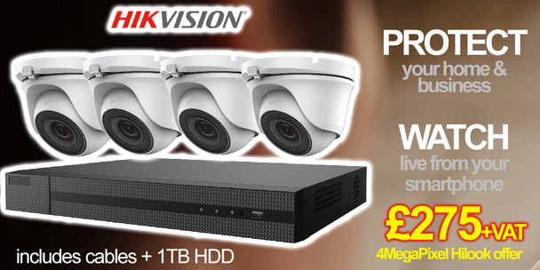 4 MegaPixel 4 Camera CCTV Kit offer