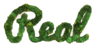 "Moss Sign - ""Real"" Cursive (40"" W x 22"" H)"