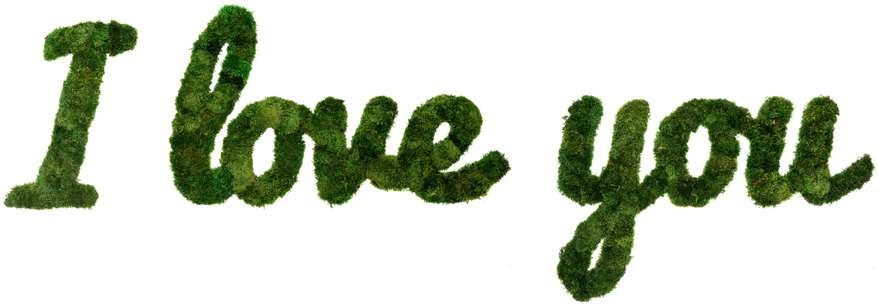 Moss Sign - By Letter - Cursive H12""