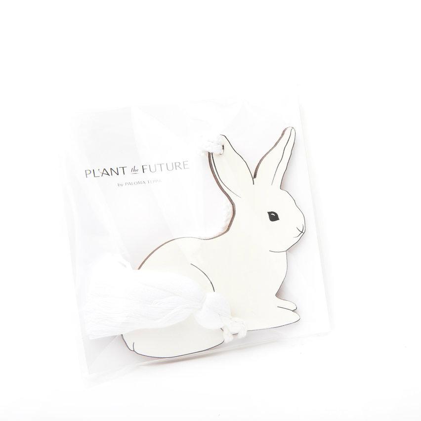 "Bunny Ema - Japanese Wishing Plaque (5"" H x 5"" W)"