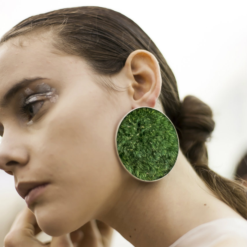 Isabel Englebert + Plant the Future Silver Earrings - Moss Circle MADE TO ORDER