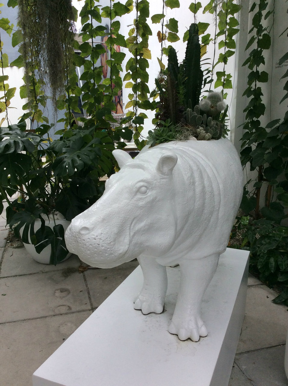 "Hippo Garden (50"" W x 24.5"" H)"