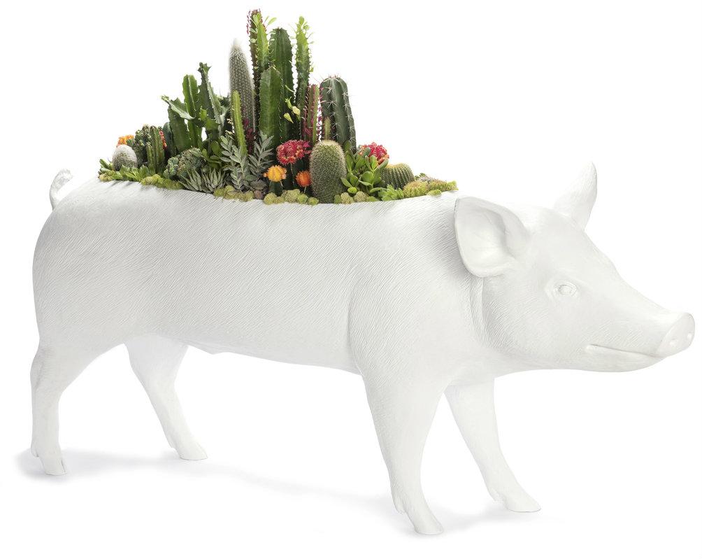 """Pig Garden (58"""" W x 33"""" H)"""