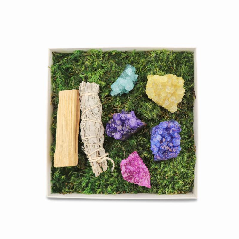 Gift Box with rainbow amethyst